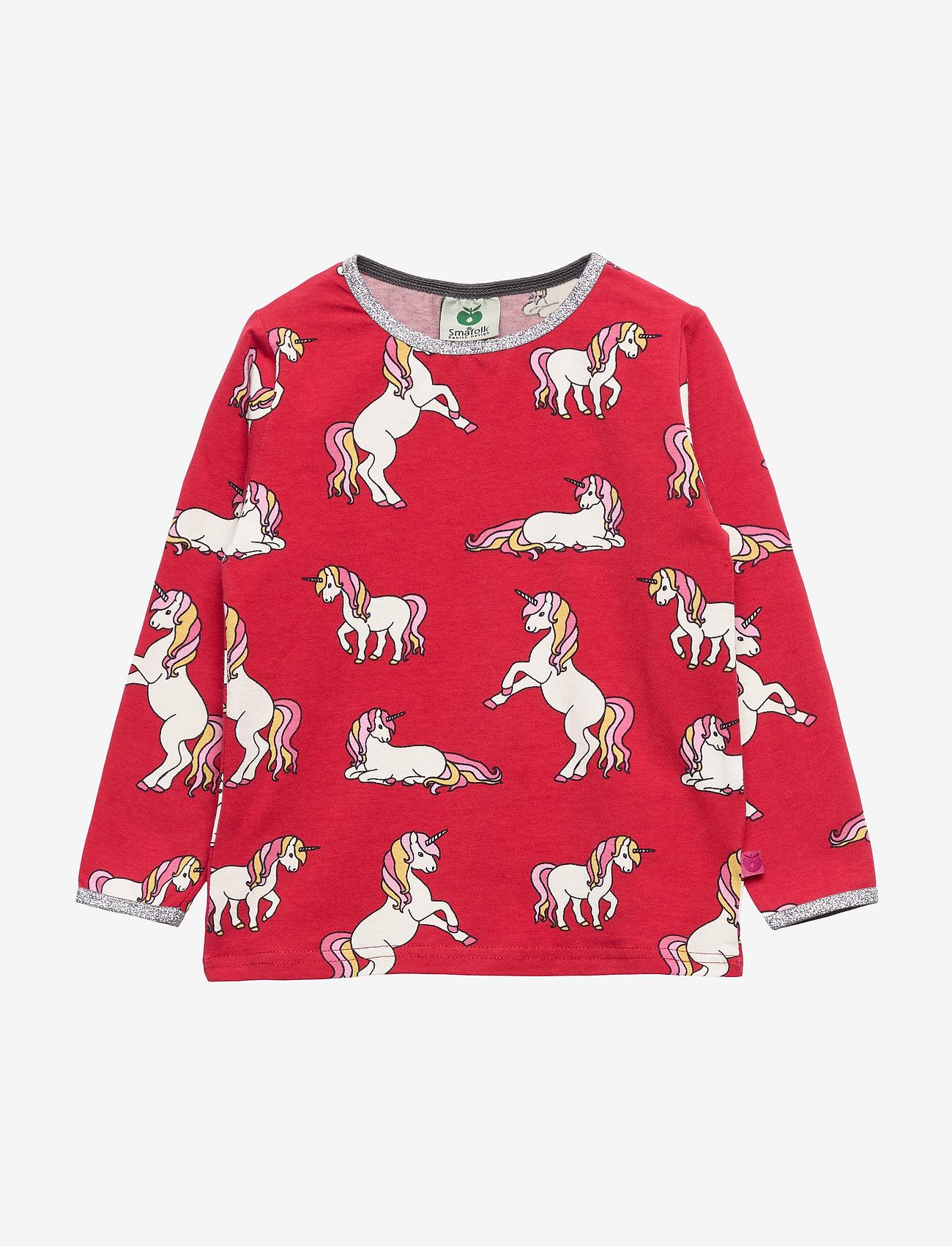 Småfolk - T-shirt LS. Unicorn - lange mouwen - dark red - 0