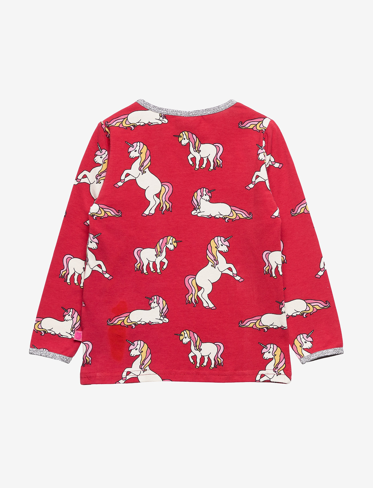 Småfolk T-shirt Ls. Unicorn - Överdelar Dark Red