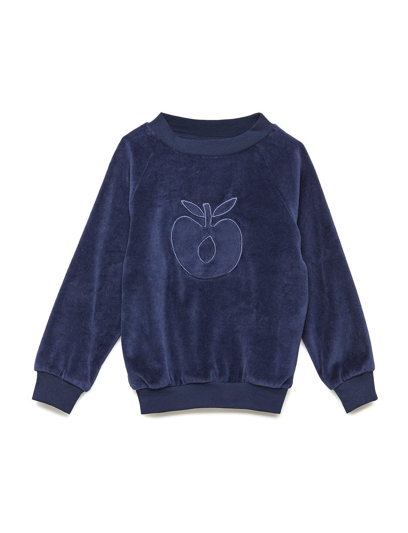 Småfolk Sweatshirt. Velvet. Apple - MEDIEVAL BLUE