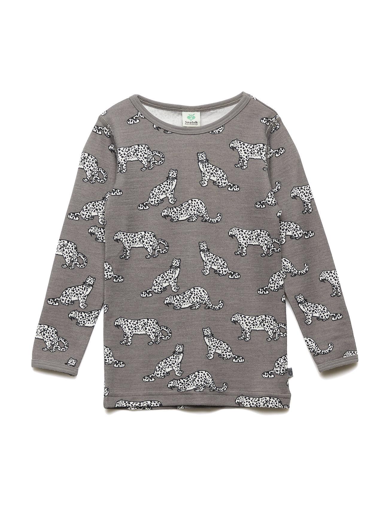Småfolk T-shirt WoolMix. Leopard