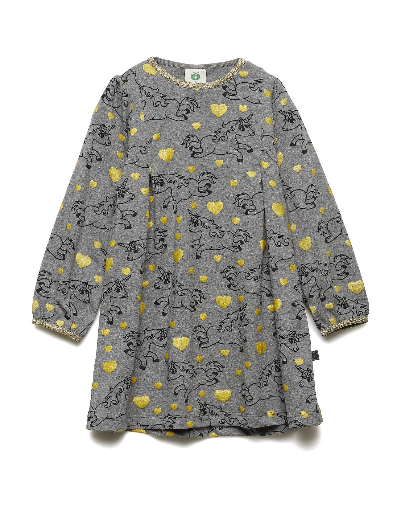 Småfolk Dress LS. Unicorn - M. GREY MIX