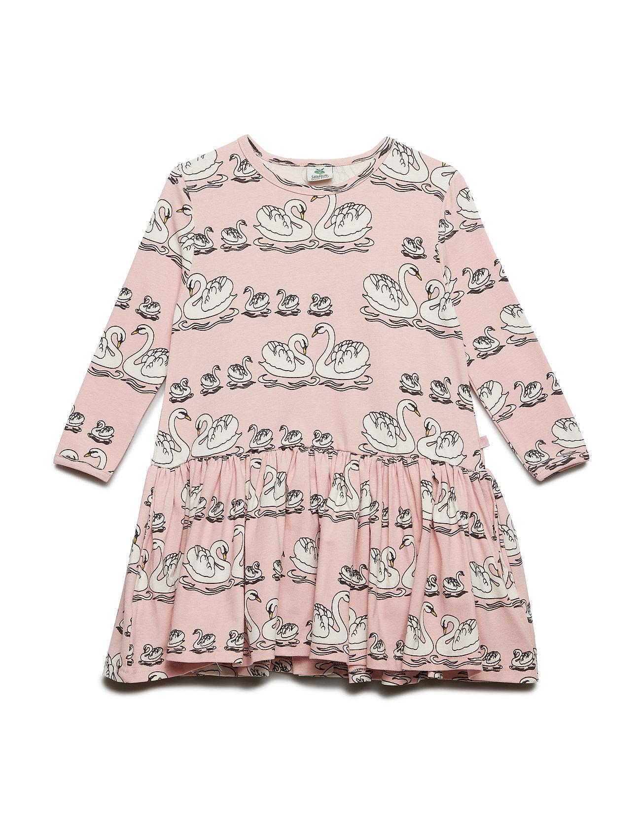 Småfolk Dress LS. Swan - SILVER PINK