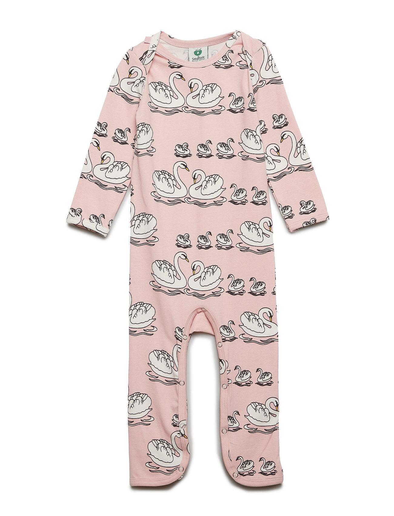 Småfolk Body Suit. Swan - SILVER PINK