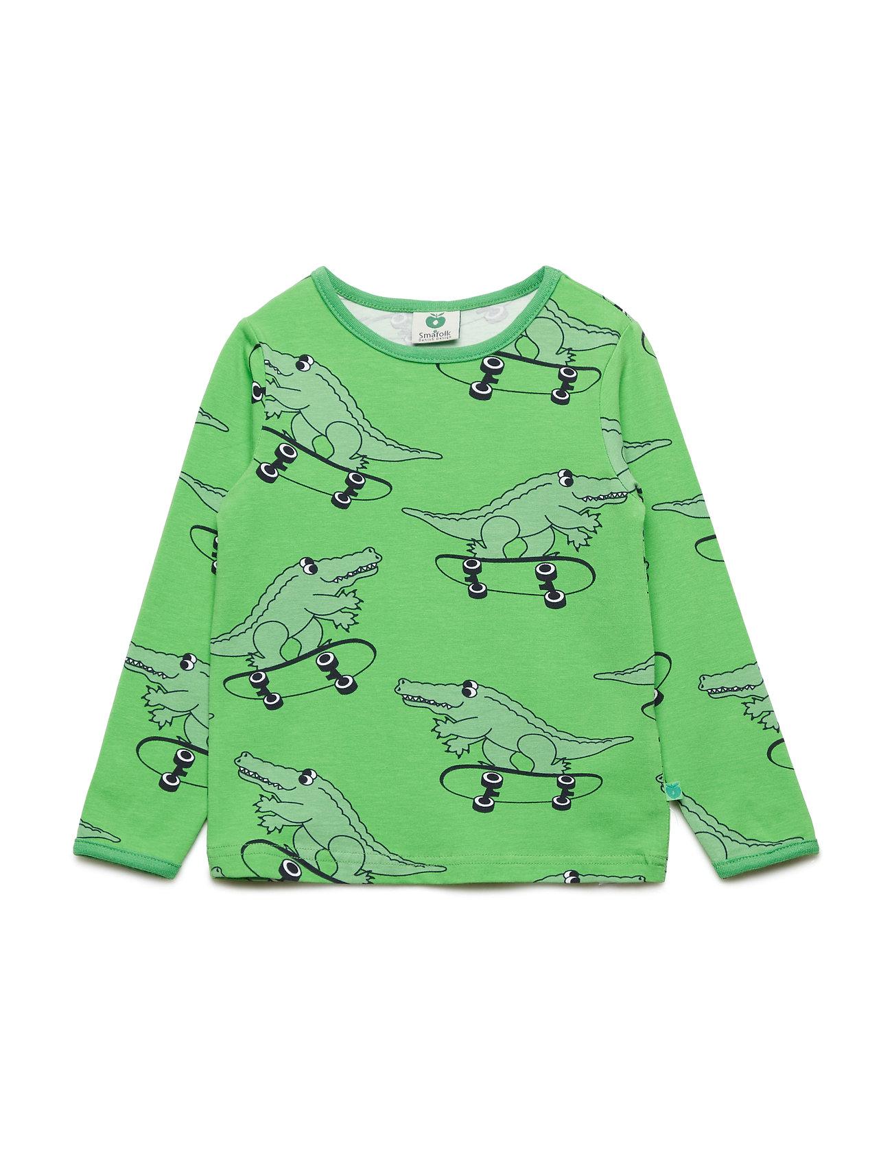 Småfolk T-shirt LS. Croco - GREEN