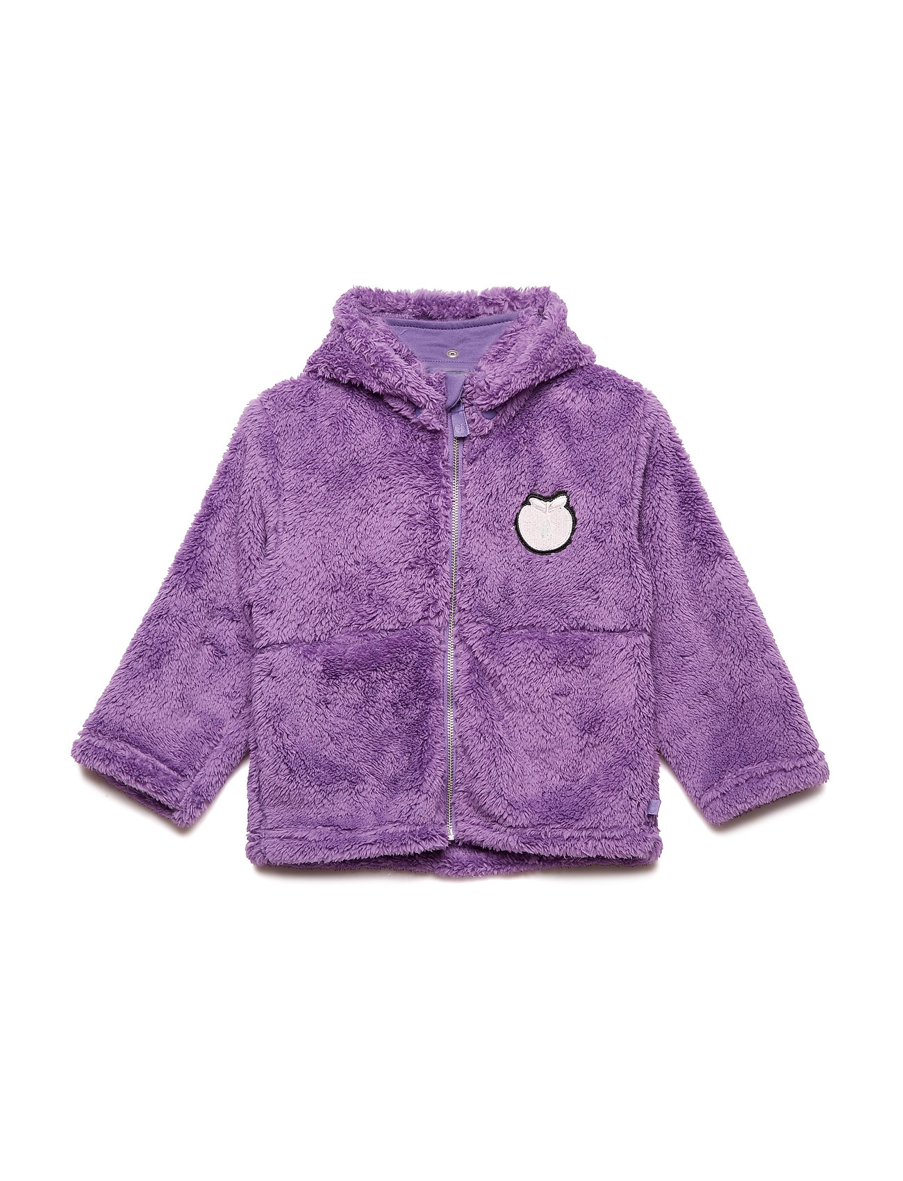Småfolk Fleece hood+zipper apple - PURPLE HEART