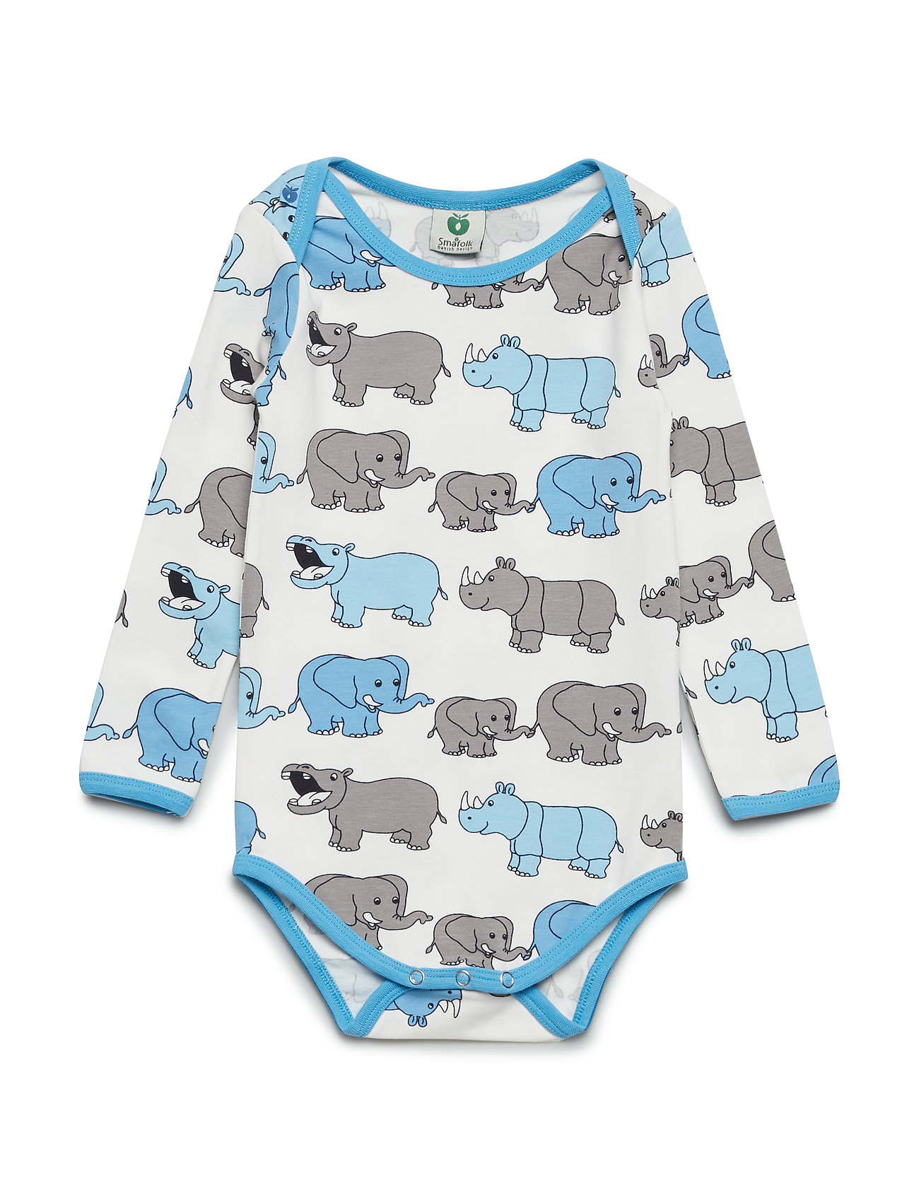Småfolk Body LS. Elephant - AIR BLUE