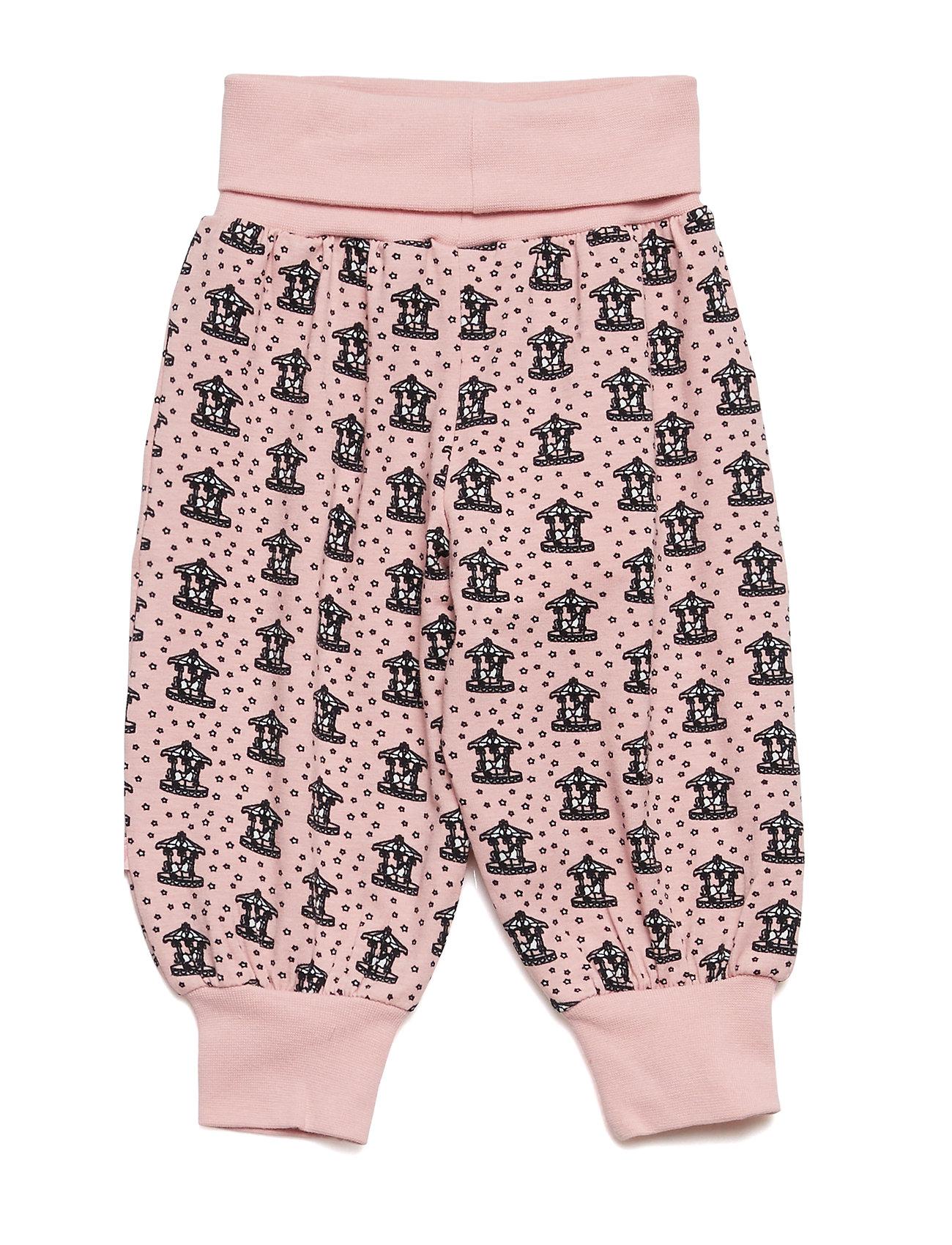 Småfolk Baby pants Waistband. Kenzie's carousel - SILVER PINK