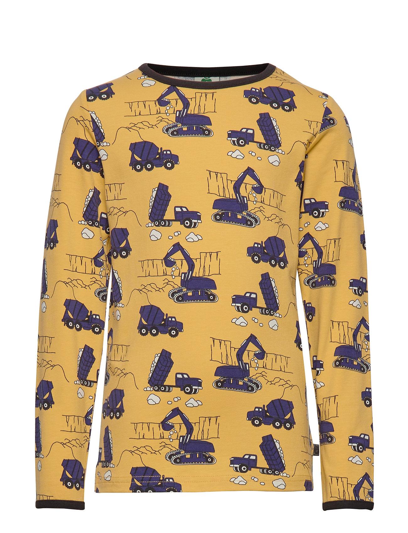 Småfolk T-shirt LS. Machines - OCHRE