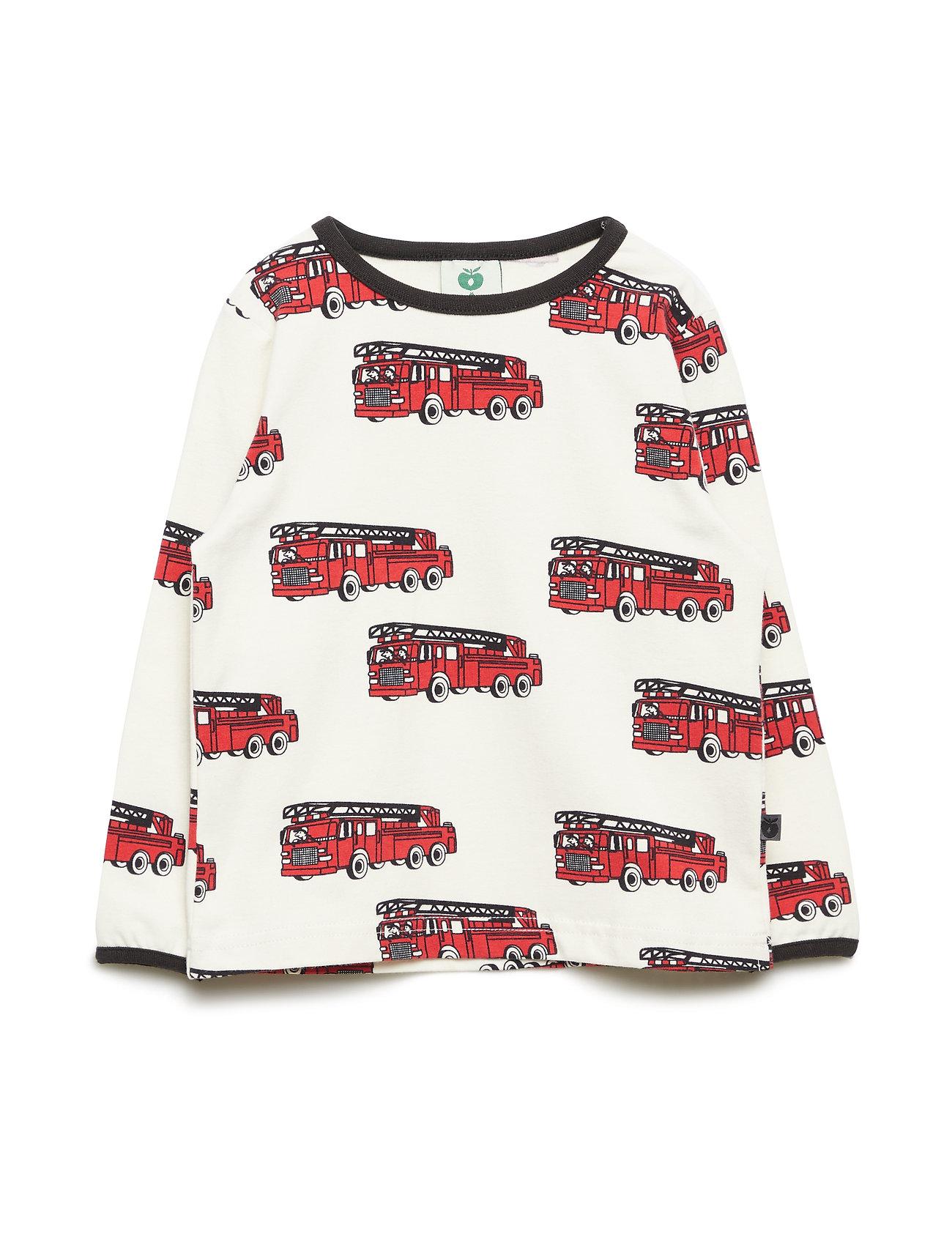 Småfolk T-shirt LS. Fire truck - KALK