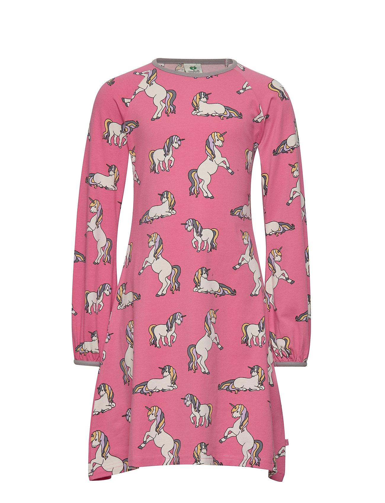 Småfolk Dress LS. Unicorn - RAPTURE ROSE