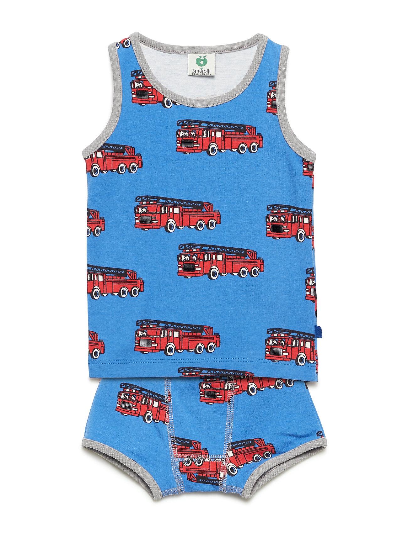 Småfolk Underwear Boy. Fire truck - BLUE LOLITE