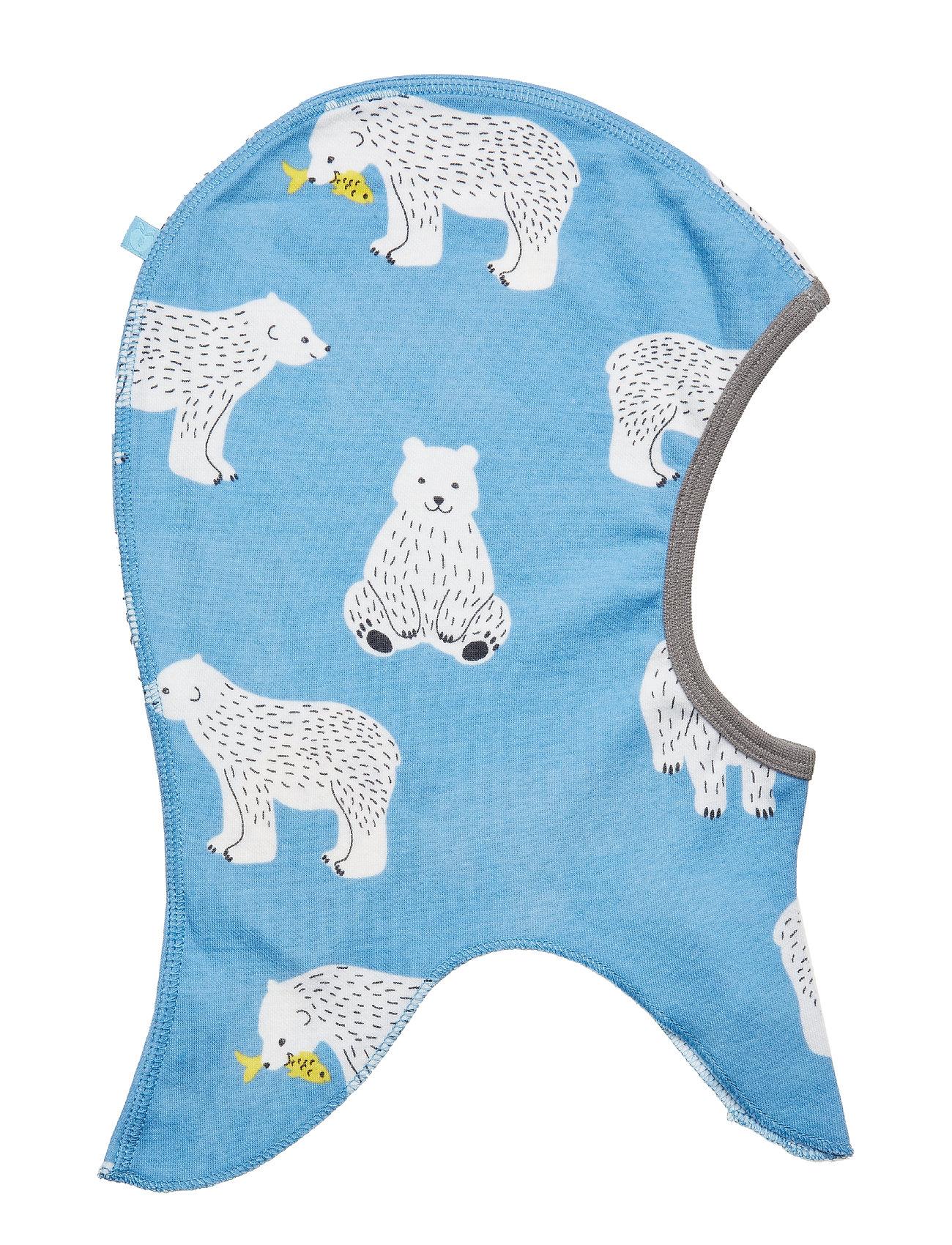 Småfolk Elephant Hood WoolMix. Bear - WINTER BLUE