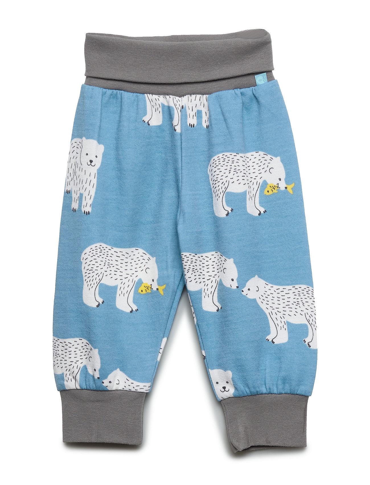 Småfolk Baby Pants Woolmix. Bear - WINTER BLUE