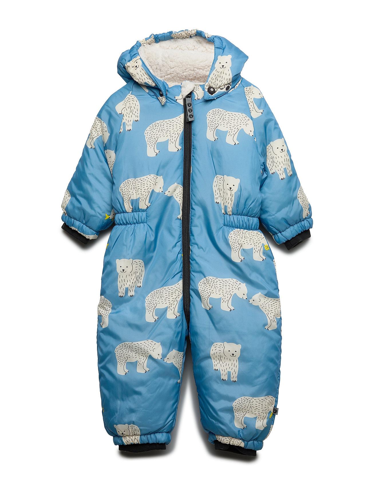 Småfolk Baby Wintersuit. Bear - WINTER BLUE