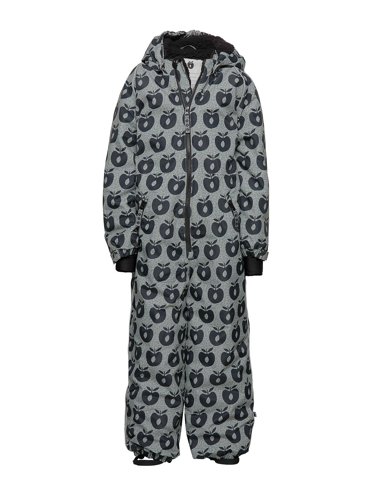 Småfolk Snowsuit, 1 zipper.Apples - B. GREY