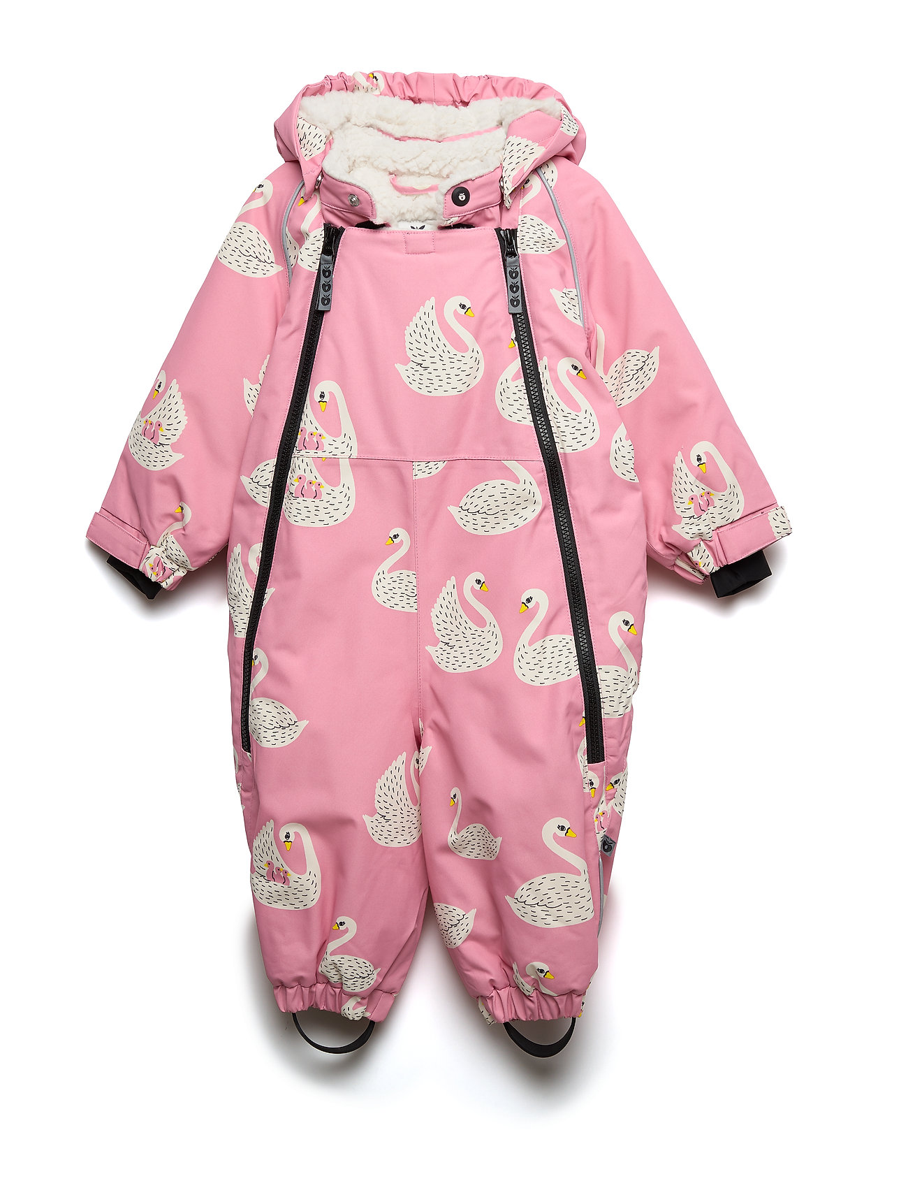 Småfolk Snowsuit, 2 zipper. Swan - WINTER PINK