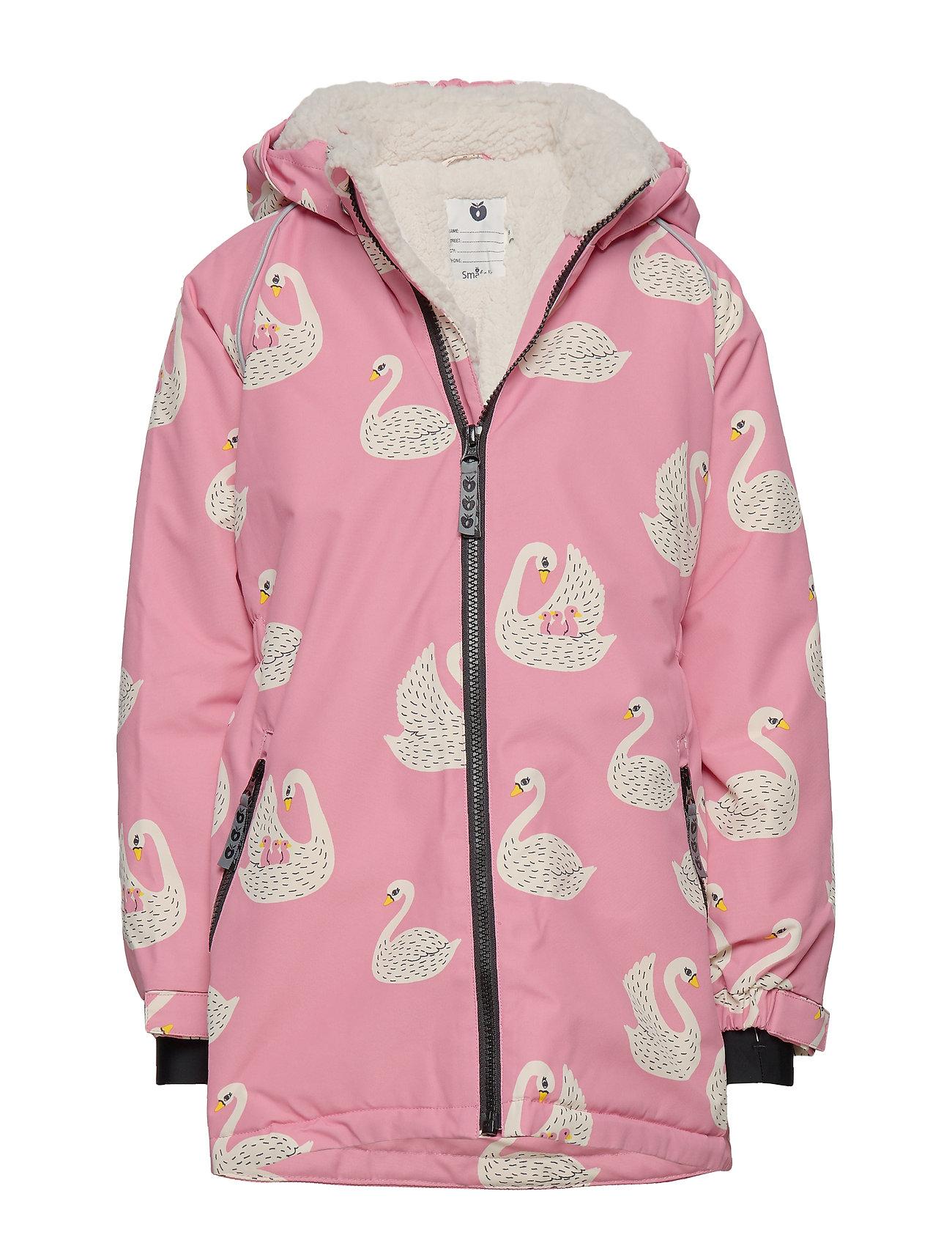 Småfolk Winter Jacket. Girl. Swan - WINTER PINK