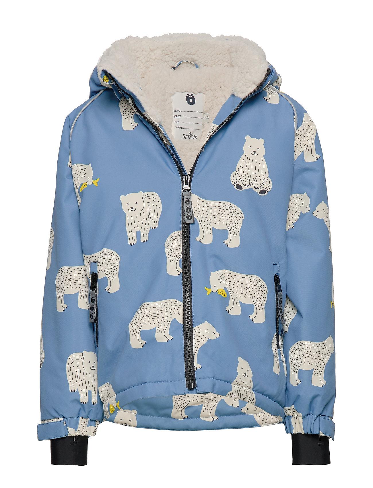 Småfolk Winter Jacket. Boy. Bear - WINTER BLUE