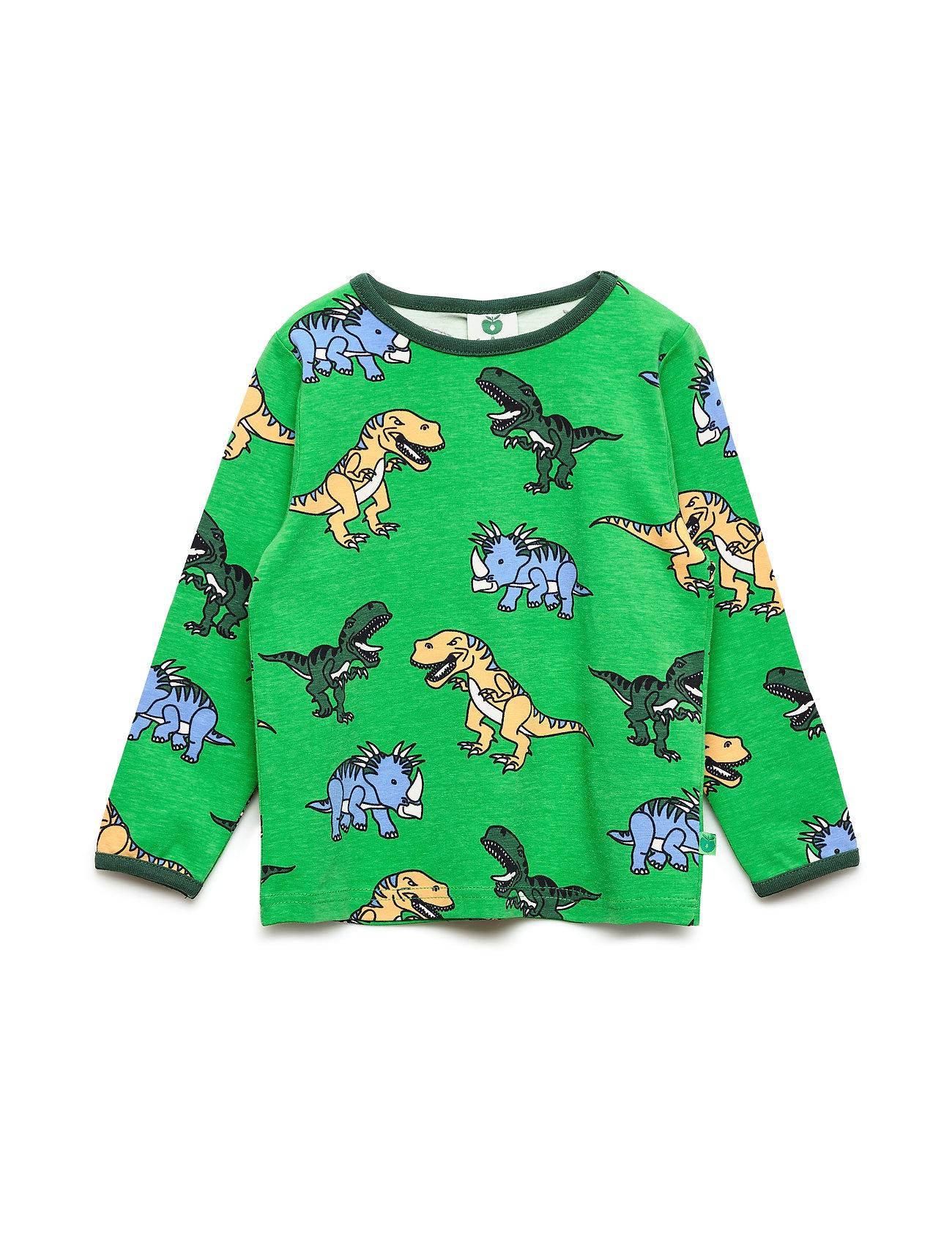 Småfolk T-shirt med dinosaurus - APPLE GREEN