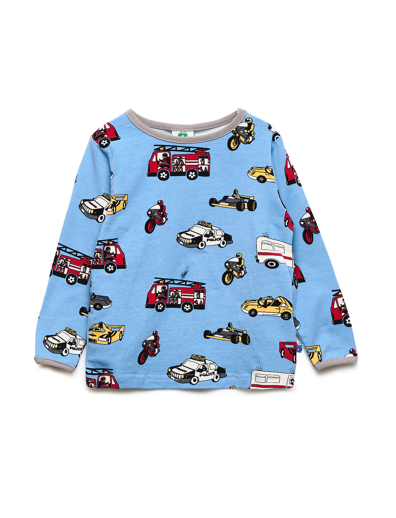 Småfolk T-shirt LS. Cars - WINTER BLUE