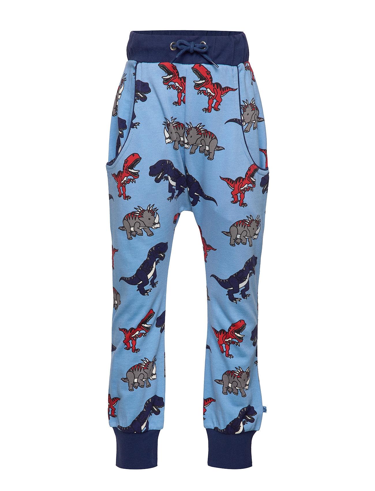 Småfolk Sweat bukser med dinosaurus - WINTER BLUE