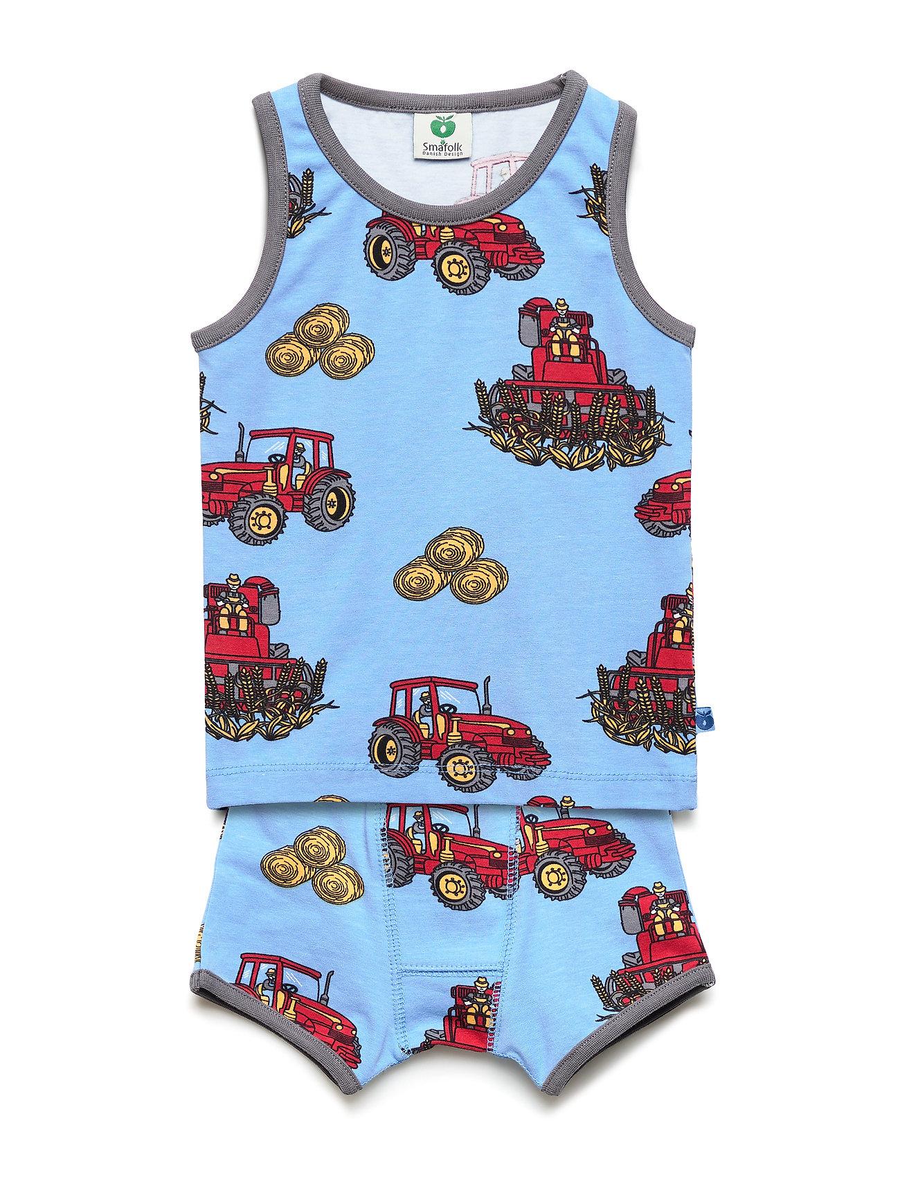 Småfolk Underwear Boy. Tractor - SKY BLUE