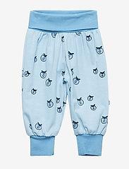 Småfolk - Baby pants Waistband. Apple. Originals. - joggingbroek - air blue - 0