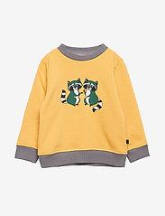 Småfolk - Sweatshirt. Raccon - sweatshirts - ochre - 0