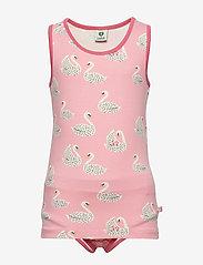 Småfolk - Underwear Girl. Swan - underwear sets - sea pink - 0