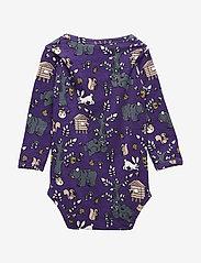 Småfolk - Body med landskab - lange mouwen - imperial purple - 1