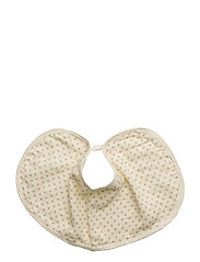Bib and burp cloth. GOTS - CREAM
