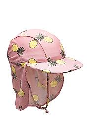 UV sun cap with pineapple - BRIDAL ROSE