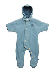 Baby Fleece Suit+Buttons - Stone Blue