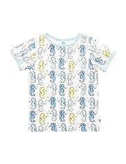 T-shirt SS. Sea horses - AQUA