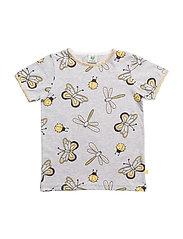 T-shirt SS. Butterfly - LT. GREY MIX