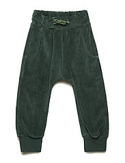Pants. Velvet. Solid color - HUNTER GREEN