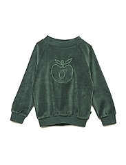 Sweatshirt. Velvet. Apple - HUNTER GREEN