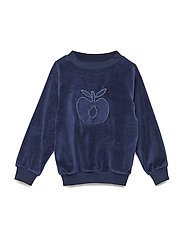 Sweatshirt. Velvet. Apple - MEDIEVAL BLUE