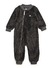 Baby Fleece Suit - STEEL GREY
