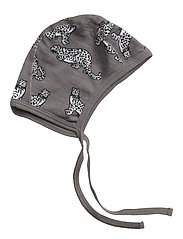 Baby Hood WoolMix. Leopard - STEEL GREY