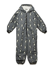 Snowsuit 1 zipper - STEEL GREY