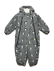 Snowsuit 2 zipper - STEEL GREY