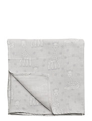 Burp Cloth. Sophie La girafe - DAWN BLUE