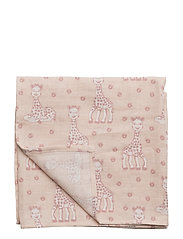 Burp Cloth. Sophie La girafe - PALE BLUSH