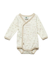 Newborn Body LS, Organic cotton Sophie La girafe - FROZEN DEW