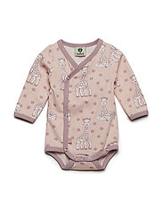 Newborn Body LS, Organic cotton Sophie La girafe - PALE BLUSH