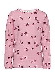 T-shirt LS. Apples. Originals. - SEA PINK