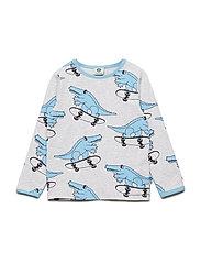 T-shirt LS. Croco - LT. GREY MIX
