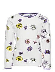 T-shirt LS. Flowers - CREAM