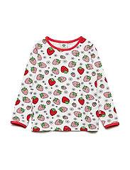 T-shirt LS. Strawberry - CREAM